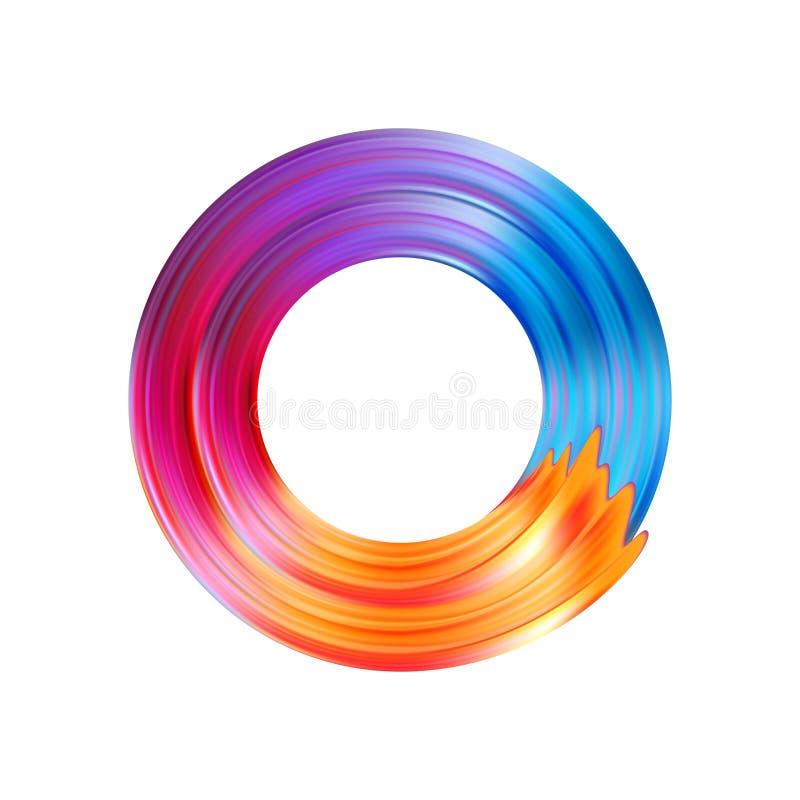 Colora o óleo da pincelada ou o elemento do projeto da pintura acrílica Ilustração do vetor ilustração stock