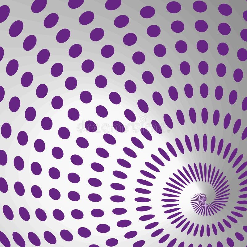 Colora o elemento desing do redemoinho abstrato dos pontos ilustração do vetor