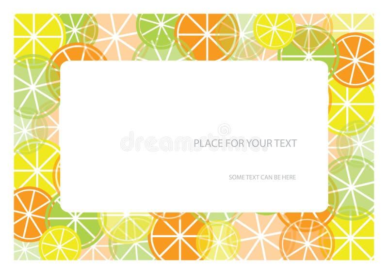 Colora o frame com frutas e coloc para seu texto ilustração do vetor