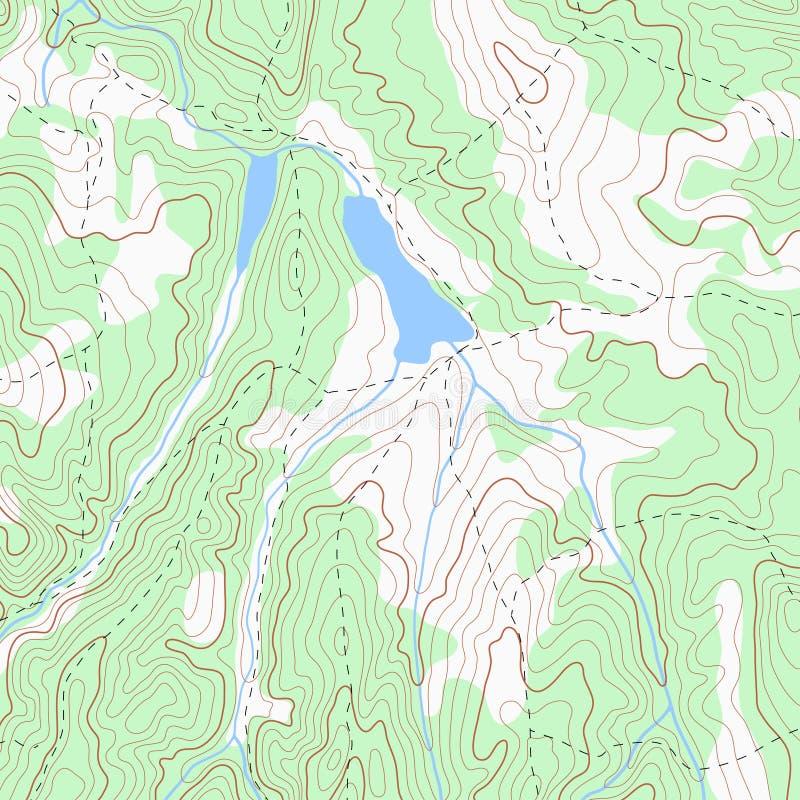 Colora o fundo topográfico do mapa de contorno do topo ilustração royalty free