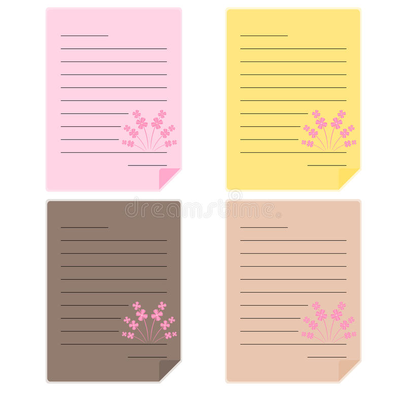 Ilustração de papel da cor ilustração do vetor