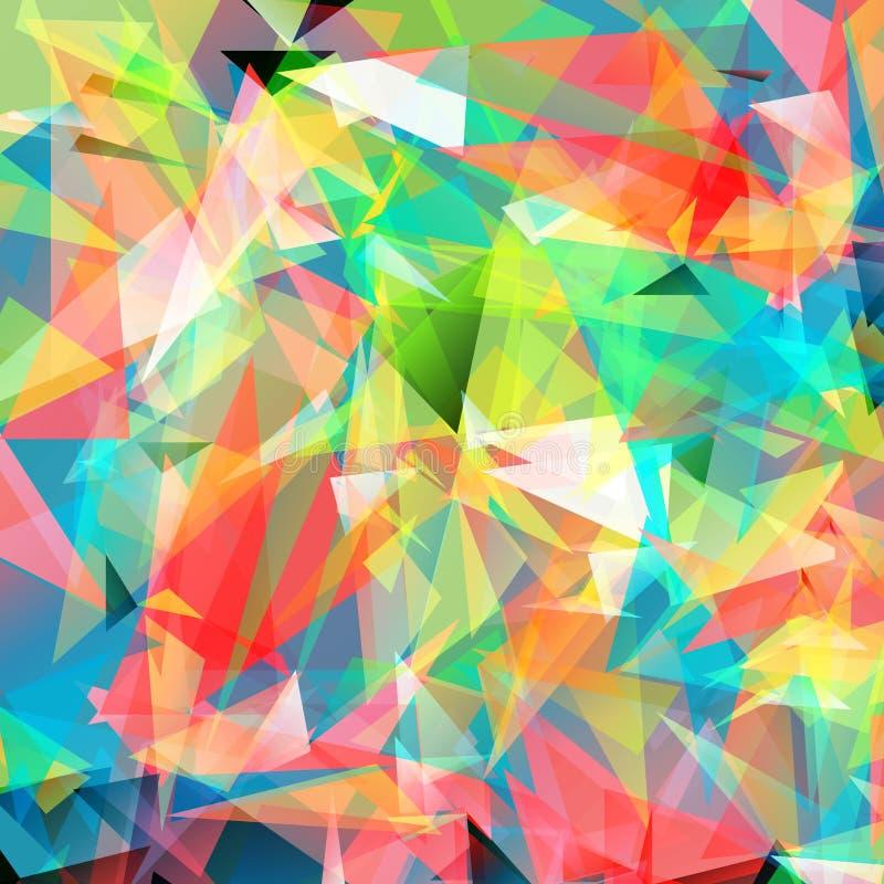 Colora o sumário brilhante do fundo do polígono do triângulo ilustração royalty free