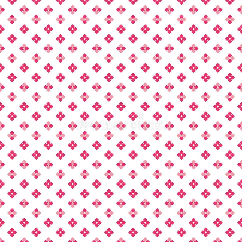 Colora o teste padrão de pontos pequeno bonito denso cor-de-rosa da flor ilustração stock