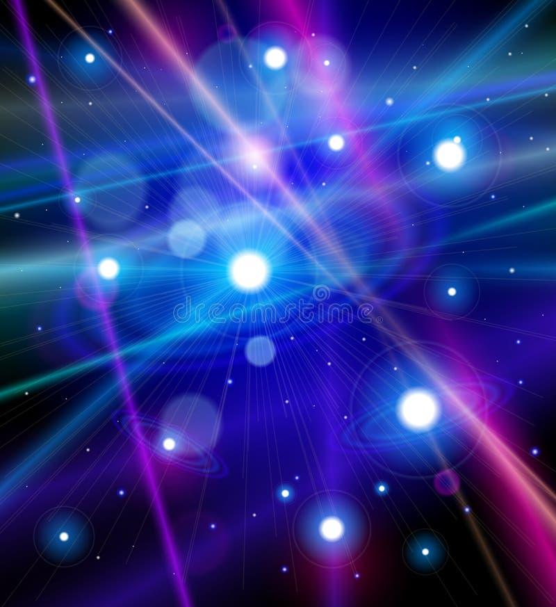 Colora o universo - estrelas, nebulosa no espaço ilustração stock