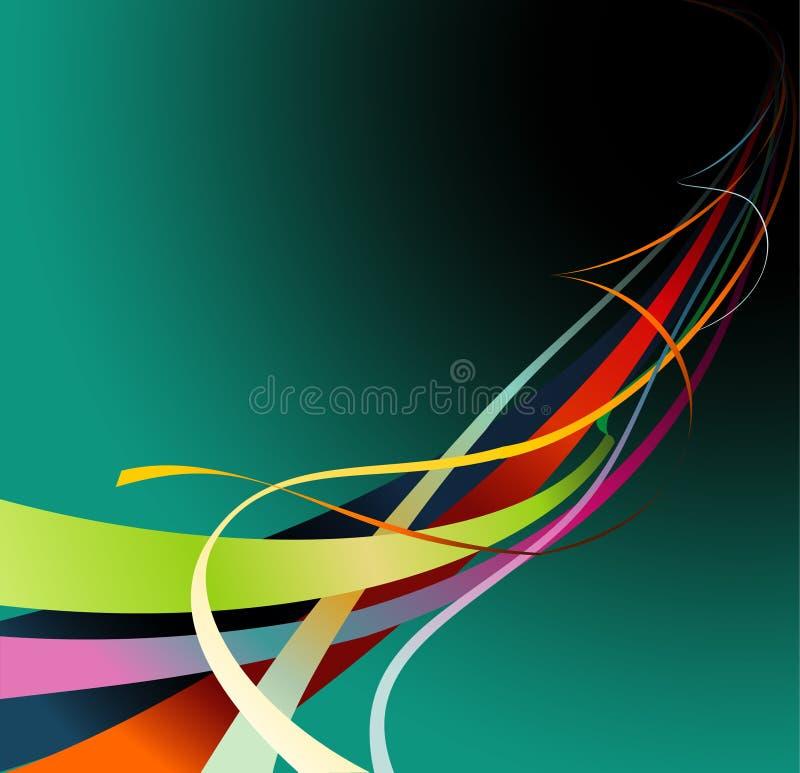 Colora o vetor de curvas ilustração stock