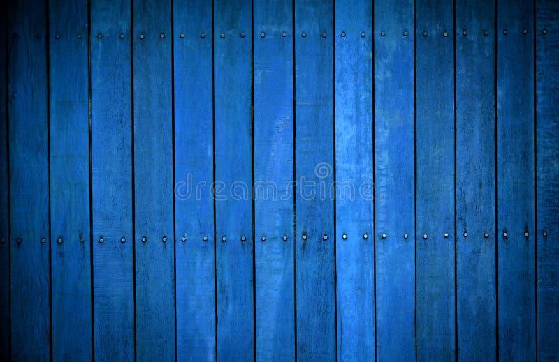 Colora o vintage de madeira azul da textura do fundo imagem de stock royalty free