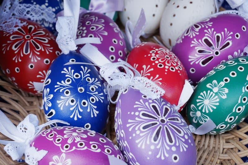 Colora ovos de easter foto de stock