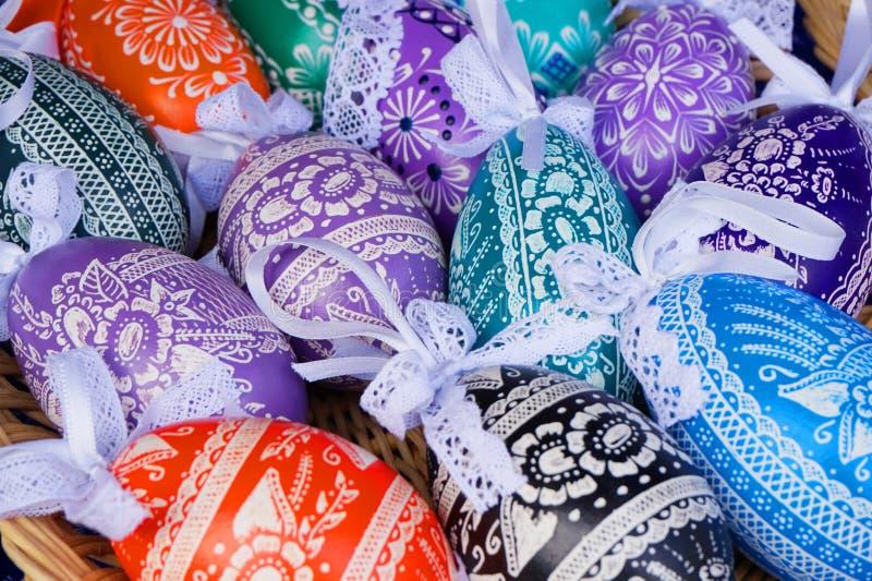 Colora ovos de easter fotografia de stock