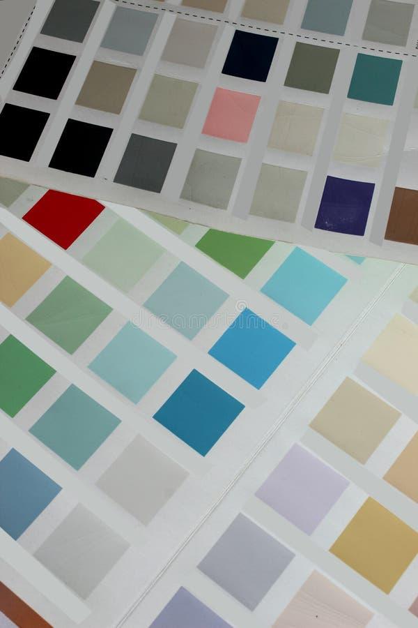 Colora placas fotografia de stock