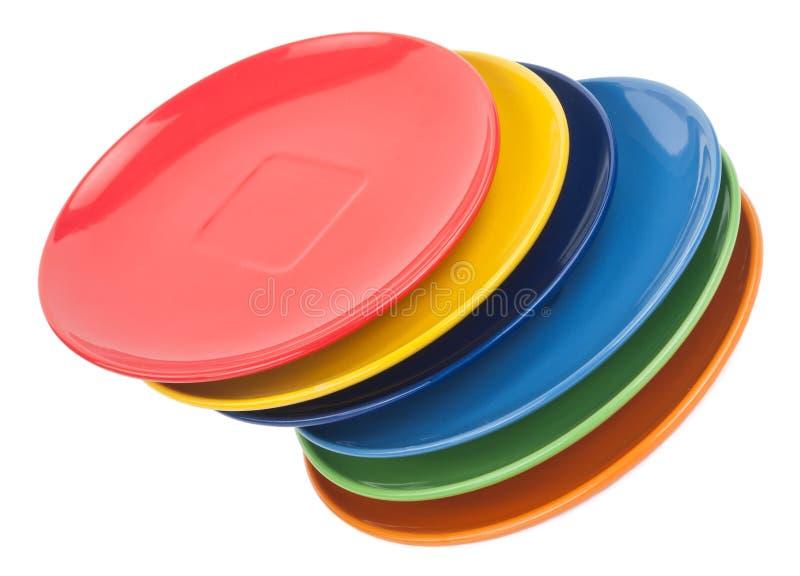 Colora placas imagens de stock