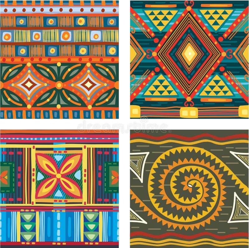 Colora a textura tribal sem emenda ilustração royalty free
