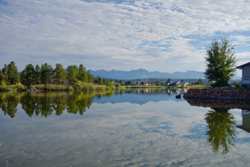 Colorado湖镜象反射 库存图片