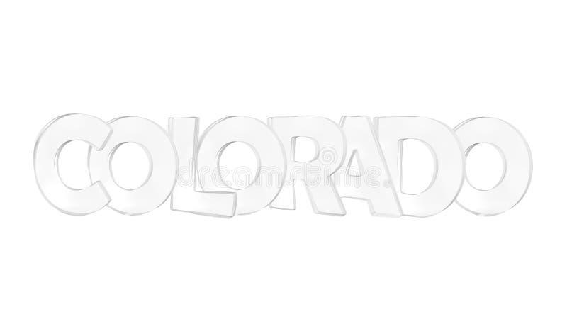 colorado Изолированные США заявляют имена иллюстрация штока
