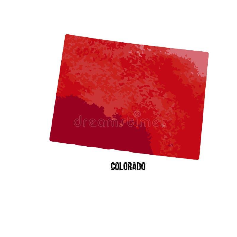 colorado положения америки соединили также вектор иллюстрации притяжки corel waterco бесплатная иллюстрация