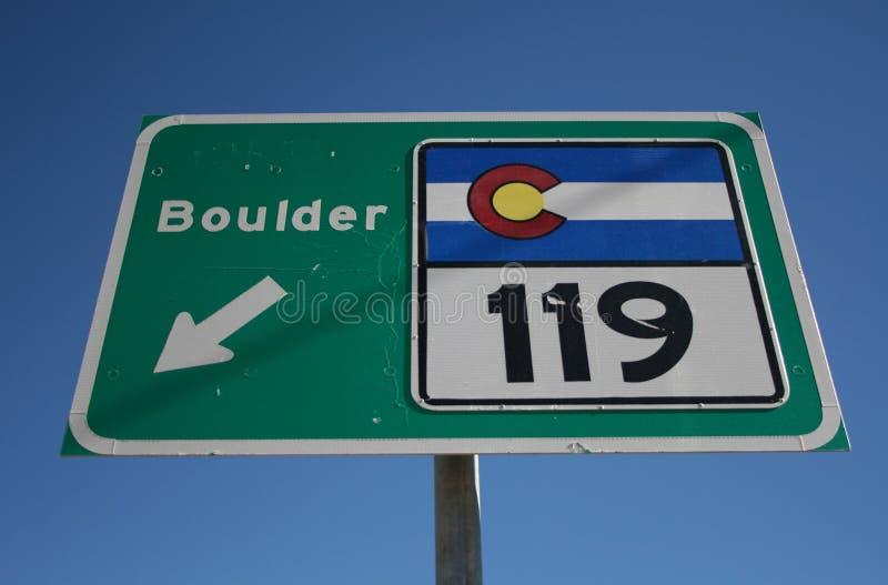 Colorado 119 highway fotografia royalty free