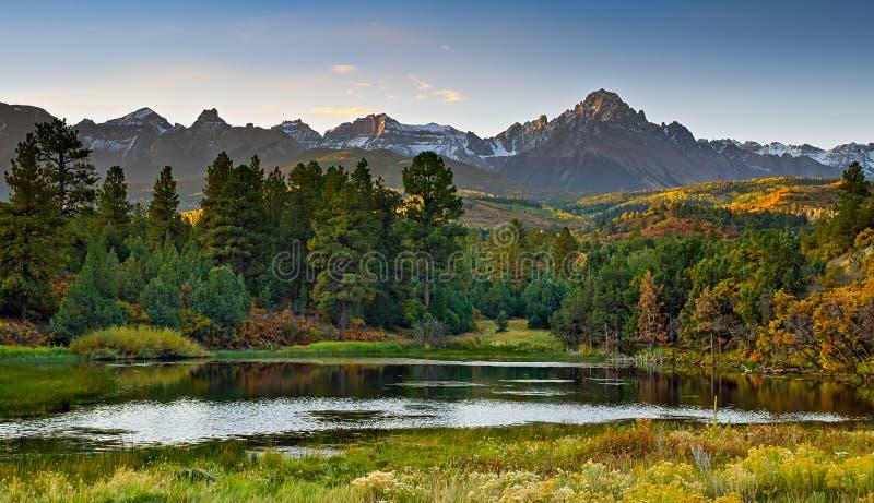 Colorado Autumn Scenery arkivfoton