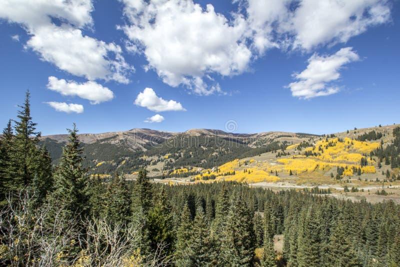 Colorado Autumn Valley arkivbild
