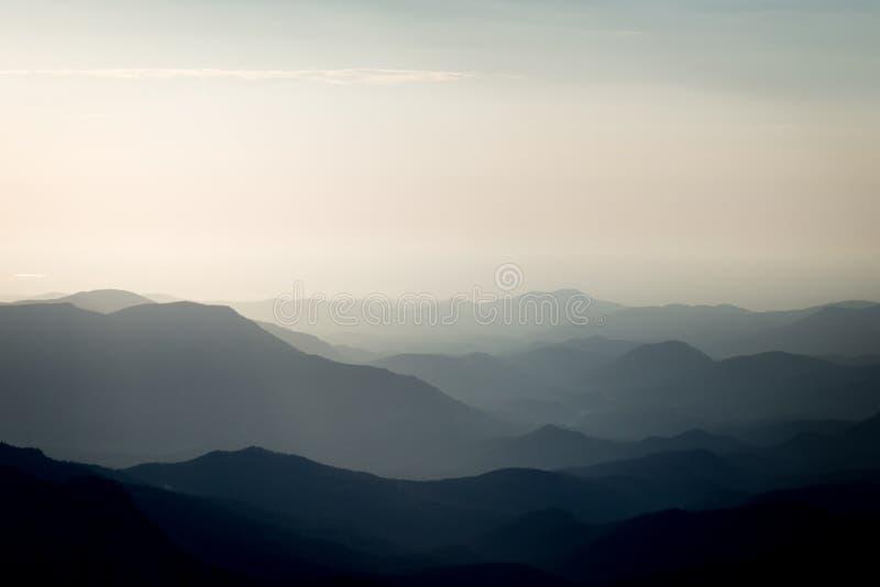 Colorado-Berge silhouettieren stockfoto