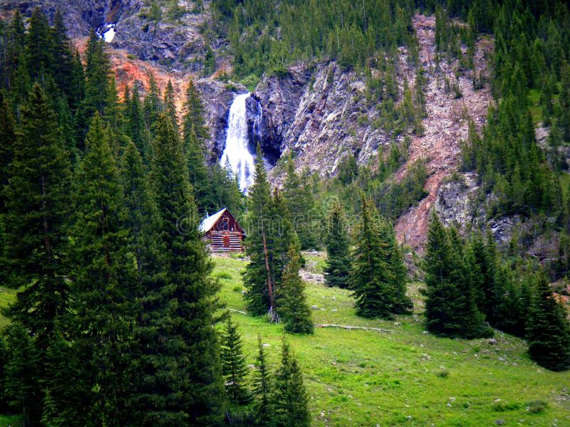 Heaven Is For Real!. This Colorado cabin in the San Juan mountains ie the epitome of my idea of Heaven stock images