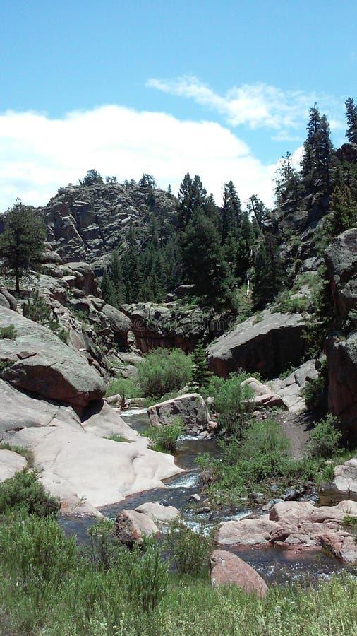 Colorado che fa un'escursione la baia di paradiso fotografia stock libera da diritti