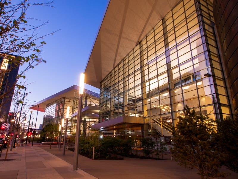 Colorado Convention Center. Denver, Colorado-April 22, 2012: Colorado Convention Center at sunrise stock photography