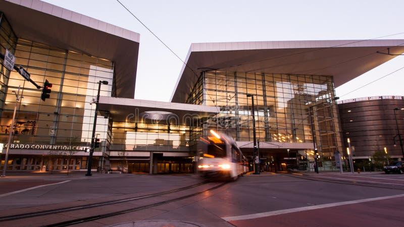 Colorado Convention Center. Denver, Colorado-April 22, 2012: Colorado Convention Center at sunrise royalty free stock photography