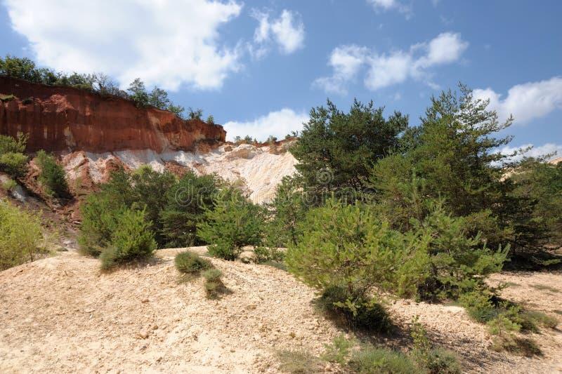 Colorado de Rustrel imagens de stock