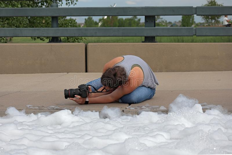colorado denver Бег пузыря в парке спорт Lowry сборщик денег особенного события стоковые изображения rf