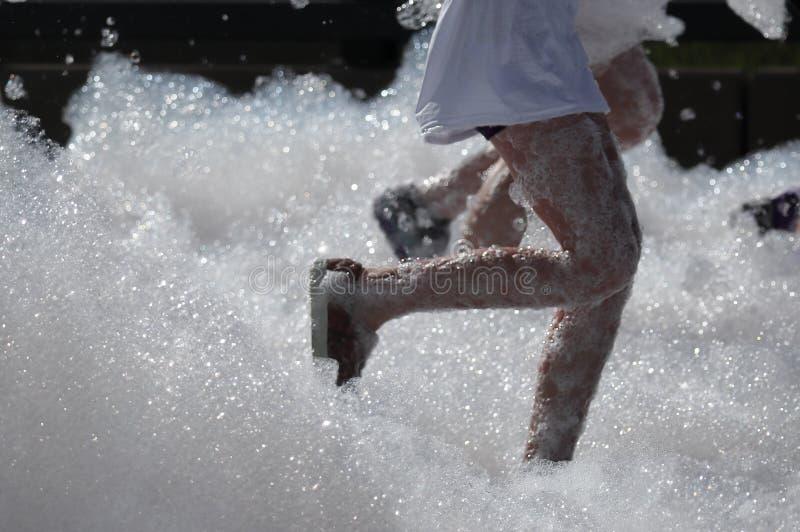 colorado denver Бег пузыря в парке спорт Lowry сборщик денег особенного события стоковая фотография