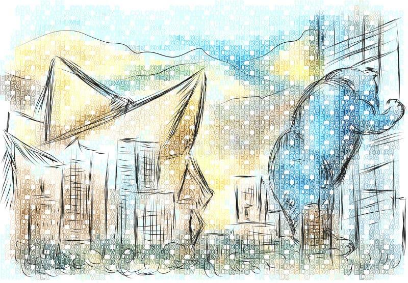 colorado denver бесплатная иллюстрация