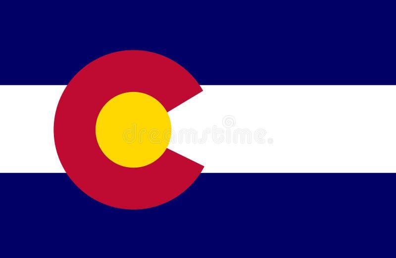 Colorado-Flagge stockbilder