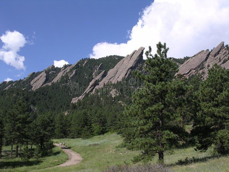 Colorado flatirons boulder zdjęcia stock