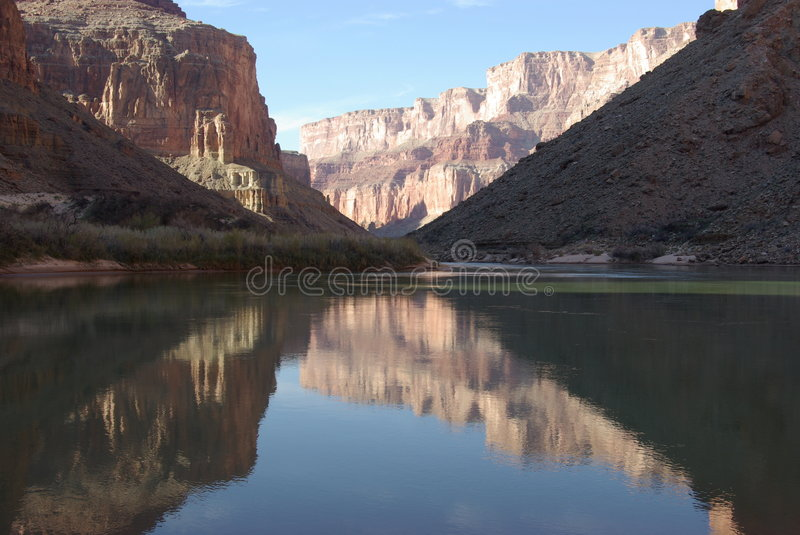 Colorado grand canyon rzeki obraz royalty free