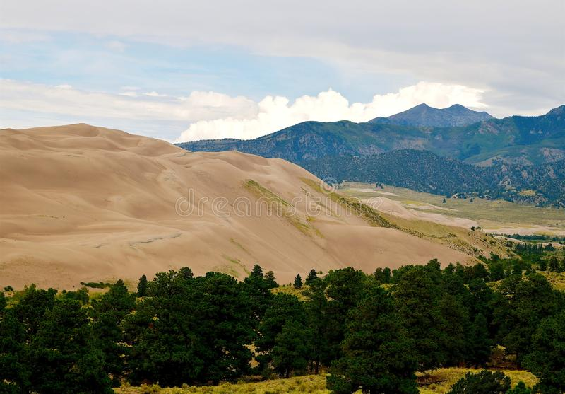 Colorado, grande parco nazionale delle dune di sabbia e prerogativa immagini stock
