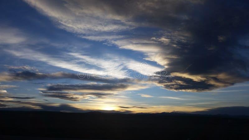 Colorado himlar royaltyfri fotografi