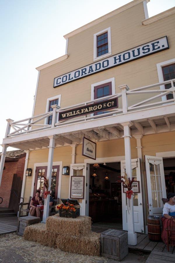 Colorado hus av Wells Fargo i gammal stad i San Diego, Californ arkivfoto
