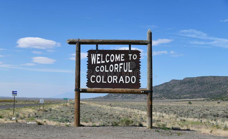 Colorado - il New Mexico: Segno positivo fotografia stock