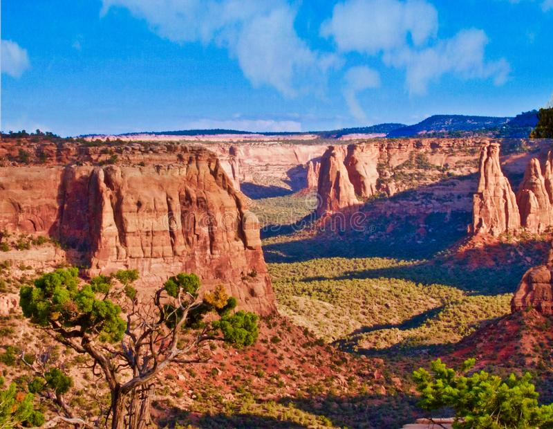 Colorado kanjoner i sena Augusti royaltyfri foto