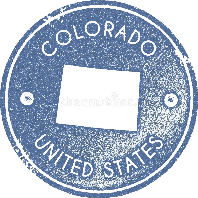 Colorado-Kartenweinlesestempel lizenzfreie abbildung