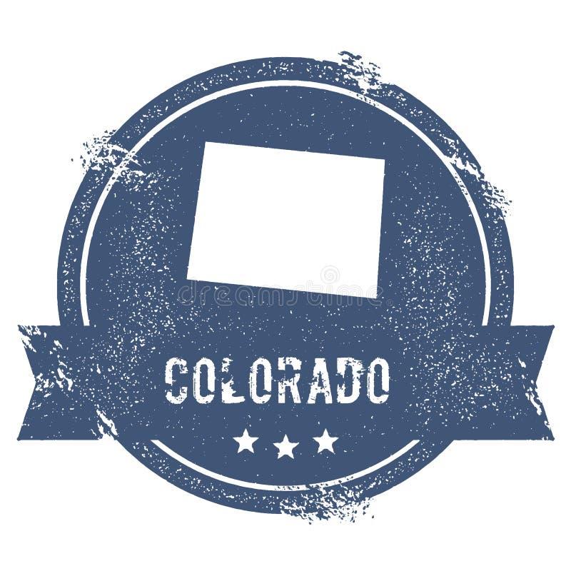 Colorado-Kennzeichen lizenzfreie abbildung