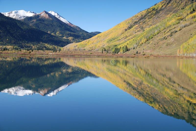 Colorado Lake Reflection stock image