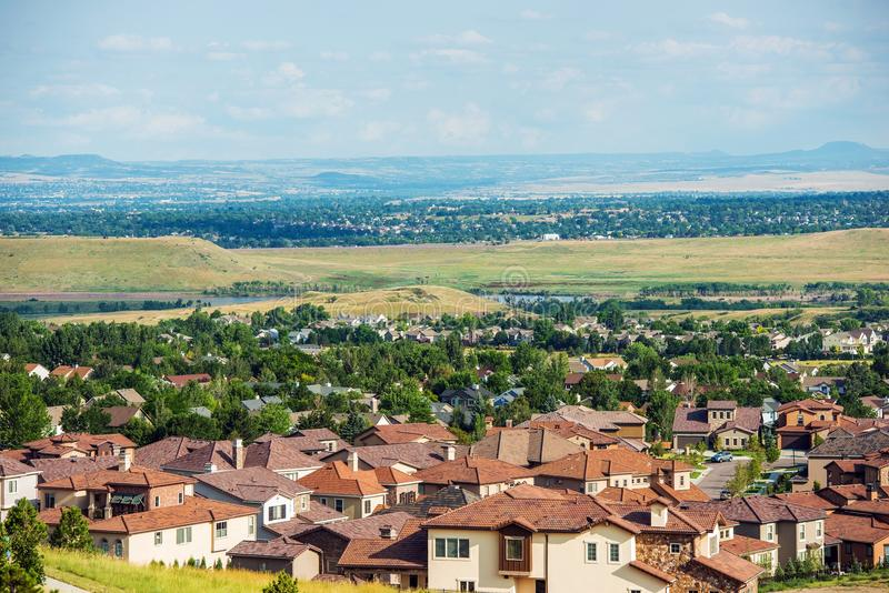 Colorado Living. Lakewood Colorado - Denver Metro Area Residential Area Panorama. United States stock photography