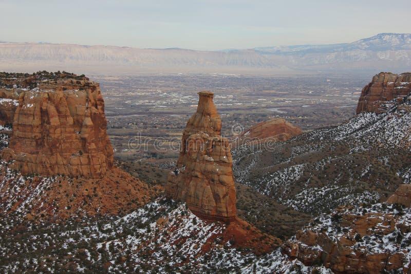 Colorado Mesa Country i vinter fotografering för bildbyråer