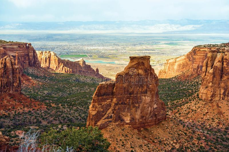 Colorado Monument Landscape. Near Grand Junction, Colorado, United States stock photography