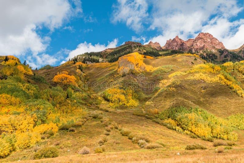 Colorado Mountain Landscape in fall stock photography