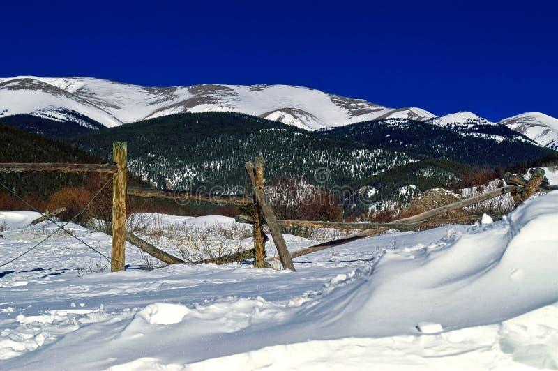 Colorado Mountains in Winter royalty free stock photo