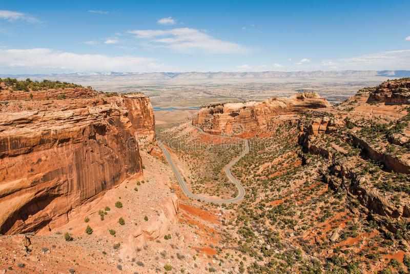 Colorado National Monument. Is a Part of the National Park Service Near the City of Grand Junction in Colorado, United States stock image