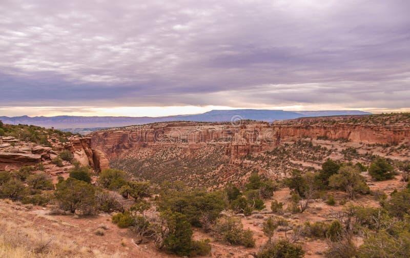 Colorado nationell monument nära Grand Junction royaltyfri foto