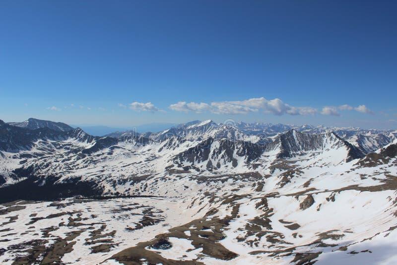 Colorado nevado Rocky Mountains Cumbre de Mt Missouri, gama de Sawatch imagenes de archivo