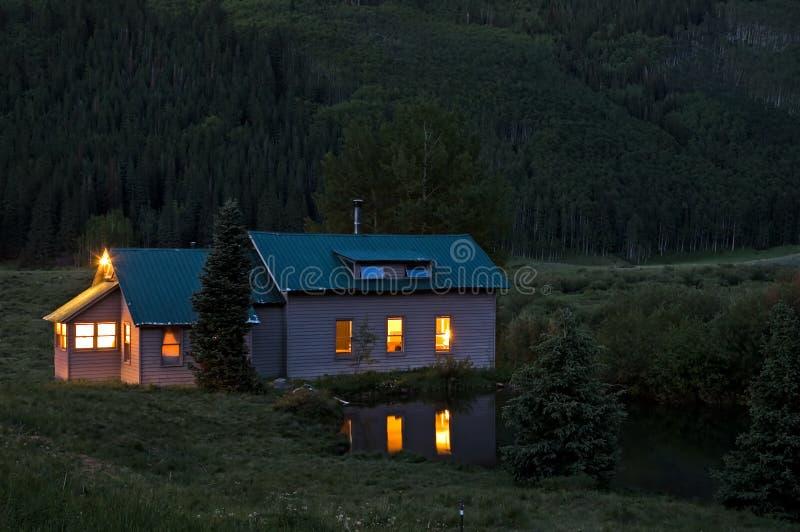 colorado nightfall στοκ εικόνα